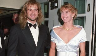 Andre Agassi and Steffi Graf at the Savoy Hotel for Wimbledon Winners Ball