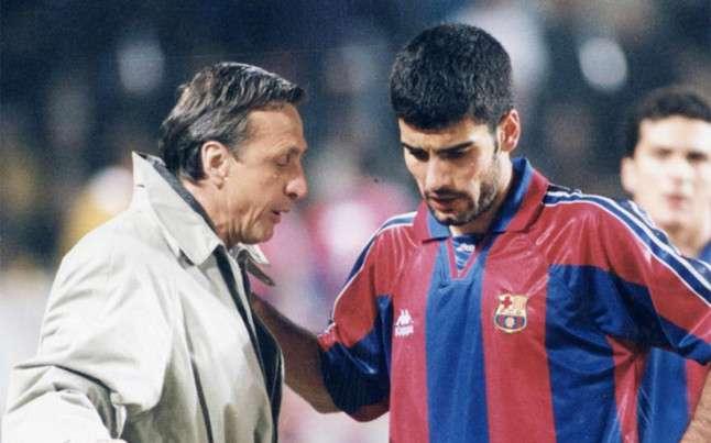 Pep and Cruyff