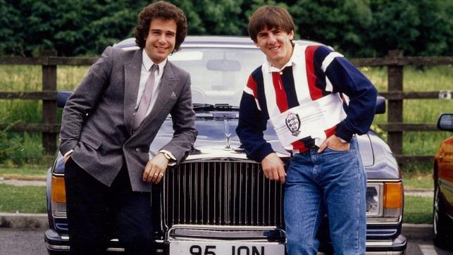 Jon-Smith-with-striker-Peter-Beardsley-celebrating-his-record
